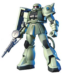Gundam High Grade Universal Century 1/144 Scale Model Kit: #040 MS-06 Zaku II