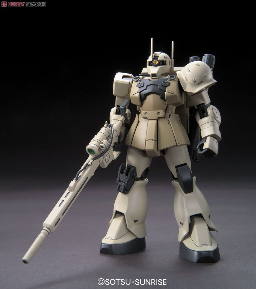 Gundam High Grade Universal Century 1/144 Scale Model Kit: #137 MS-05L Zaku I Sniper Type (Yonem Kirks Custom)