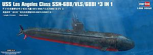 HOBBY BOSS 1:350 Scale Plastic Submarine Model Kit USS Los Angeles Class SSN-688/VLS/688I 3-in-1 (83530)