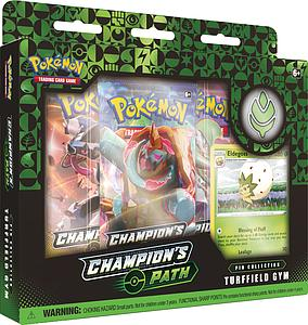 Pokemon Trading Card Game: Champion's Path Pin Collection - Milo's Turffield Gym (Eldegoss)