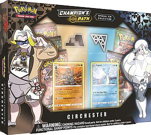 Pokemon Trading Card Game: Champion's Path Special Pin Collection - Circhester Gym (Coalossal and Lapras)