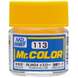 Mr. Color 113 - RLM04 Yellow Semi-Gloss/German Aircraft WWII (C113)