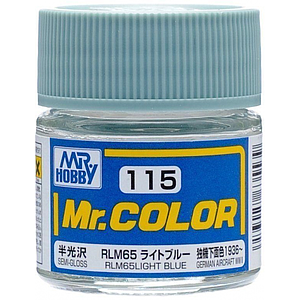 Mr. Color 115 - RLM65 Light Blue Semi-Gloss/German Aircraft WWII (C115)