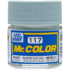 Mr. Color 117 - RLM76 Light Blue Semi-Gloss/German Aircraft WWII (C117)