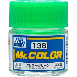 Mr. Color 138 -  Clear Green Flat/Primary (C138)