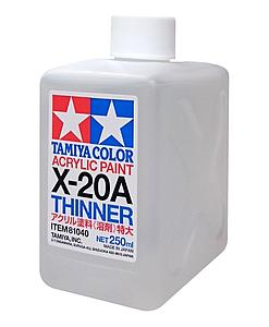 Tamiya Color Acrylic Paint X-20A Thinner 250ml (TAM81040)