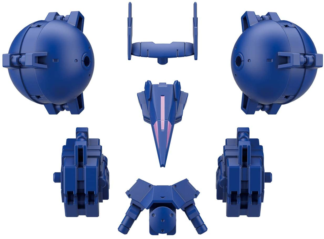 30MM 1/144 Scale Model Kit: OP-27 Option Armor for High-Mobility Type (Cielnova Exclusive/Blue)