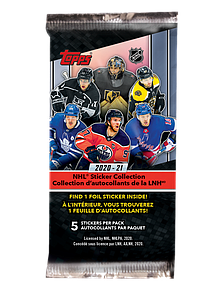 2020-21 NHL Sticker Collection Booster Pack