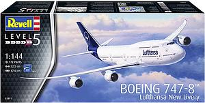 REVELL GERMANY 1:144 Scale Airplane Model Kit: Boeing 747-8 Lufthansa New Livery (03891)