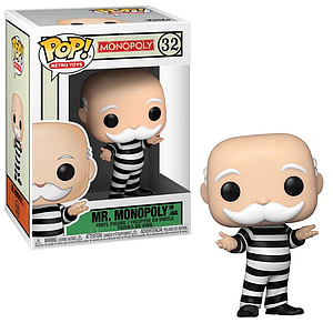 Pop! Retro Toys Monopoly Vinyl Figure Mr. Monopoly in Jail #32