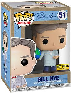 Pop! Icons Bill Nye Vinyl Figure Bill Nye (with Globe) #51 Hot Topic Exclusive