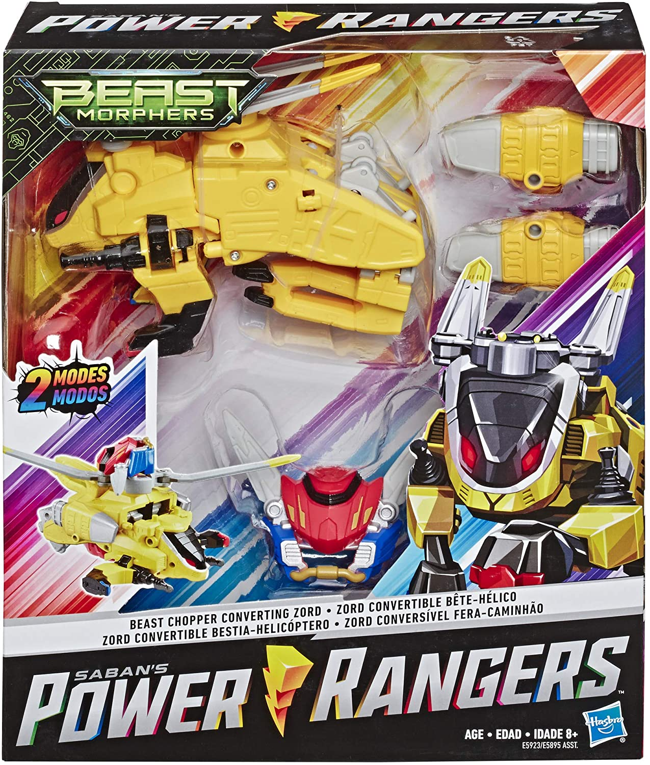 HASBRO Power Rangers Beast Morphers Figure Beast Chopper Converting Zord