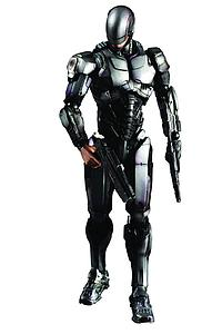 Play Arts Kai Robocop (2013) 8 Inch: Robocop Version 1.0 (Black & Silver)