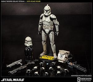 "Sideshow Collectibles Star Wars 12"" Deluxe Figure: Clone Trooper (Veteran)"