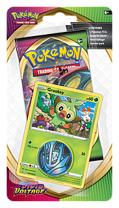 Pokemon Trading Card Game: Sword & Shield Vivid Voltage Checklane Blister Pack - Grookey