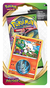 Pokemon Trading Card Game: Sword & Shield Vivid Voltage Checklane Blister Pack - Scorbunny
