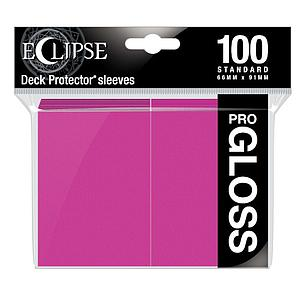 Eclipse Glossy Standard Card Sleeves: Hot Pink (66mm x 91mm)