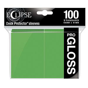 Eclipse Glossy Standard Card Sleeves: Lime Green (66mm x 91mm)