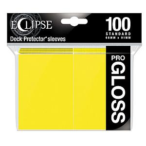 Eclipse Glossy Standard Card Sleeves: Lemon Yellow (66mm x 91mm)