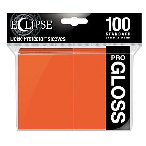 Eclipse Glossy Standard Card Sleeves: Pumpkin Orange (66mm x 91mm)