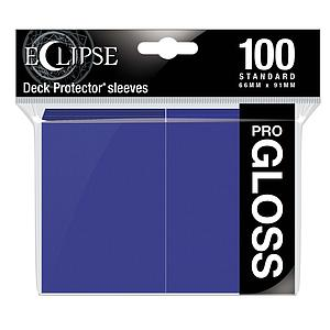 Eclipse Pro-Gloss: Royal Purple Standard Card Sleeves (66mm x 91mm)