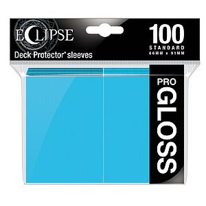 Eclipse Pro-Gloss: Sky Blue Standard Card Sleeves (66mm x 91mm)