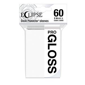 Eclipse Pro-Gloss: Arctic White Small Card Sleeves (62mm x 89mm)