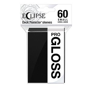 Eclipse Pro-Gloss: Jet Black Small Card Sleeves (62mm x 89mm)