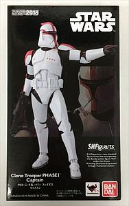 "BANDAI S.H. Figuarts Star Wars 6"" Action Figure Clone Trooper Phase I Captain Limited Edition"