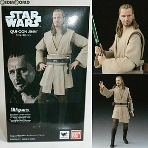 "BANDAI S.H. Figuarts Star Wars 6"" Action Figure Qui-Gon Jinn Limited Edition"
