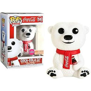 Pop! Ad Icons Coca-Cola Vinyl Figure Coca-Cola Polar Bear (Flocked) #58 BoxLunch Exclusive