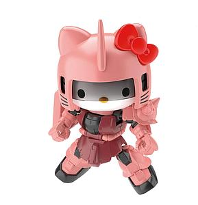 HGundam SD Gundam Cross Silhouette Model Kit: Hello Kitty/MS-06S Char's Zaku II (SD Gundam Cross Silhouette)