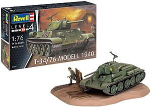Revell Germany 1:76 Scale Model Kit T-34/76 Modell 1940 (03294)