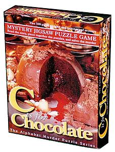Mystery Jigsaw Puzzle Game - C is for Chocolate