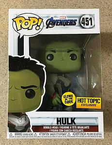 Pop! Marvel Avengers Vinyl Bobble-Head Hulk (Quantum Realm Suit) (Glows In The Dark) #451 Hot Topic Exclusive