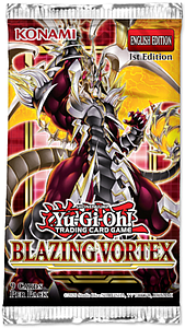 YuGiOh Trading Card Game Pack: Blazing Vortex Booster Pack
