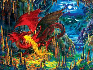 SUNSOUT Puzzle 500 Piece Fire Dragon of Emerald (59775)