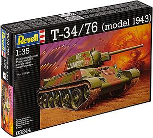 Revell Germany 1:35 Scale Model Kit T-34/76 (model 1943) (03244)