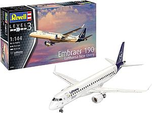 REVELL GERMANY 1:144 Scale Model Kit Embraer 190 Lufthansa New Livery (03883)