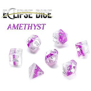 Eclipse Set of 7 Dice: Amethyst