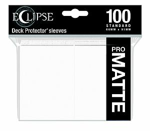 Eclipse Pro Matte: Arctic White Standard Card Sleeves (66mm x 91mm)