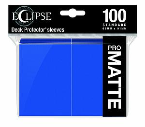 Eclipse Pro Matte: Pacific Blue Standard Card Sleeves (66mm x 91mm)