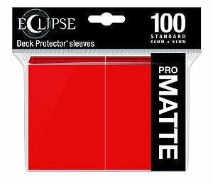 Eclipse Pro Matte: Apple Red Standard Card Sleeves (66mm x 91mm)
