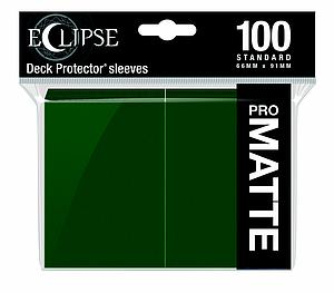 Eclipse Pro Matte: Forest Green Standard Card Sleeves (66mm x 91mm)