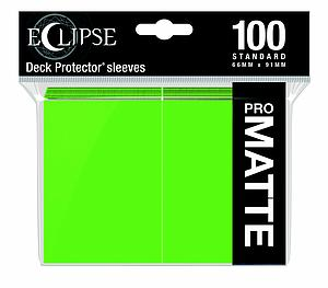 Eclipse Pro Matte: Lime Green Standard Card Sleeves (66mm x 91mm)