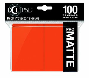 Eclipse Pro Matte: Pumpkin Orange Standard Card Sleeves (66mm x 91mm)