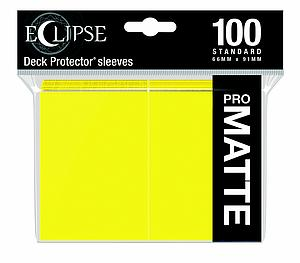 Eclipse Pro Matte: Lemon Yellow Standard Card Sleeves (66mm x 91mm)