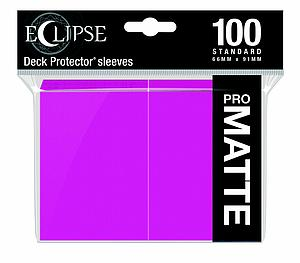 Eclipse Pro Matte: Hot Pink Standard Card Sleeves (66mm x 91mm)