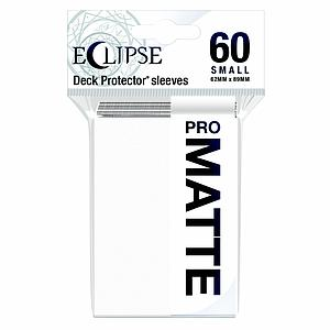 Eclipse Pro Matte: Arctic White Small Card Sleeves
