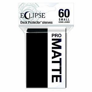 Eclipse Pro Matte: Jet Black Small Card Sleeves (62mm x 89mm)